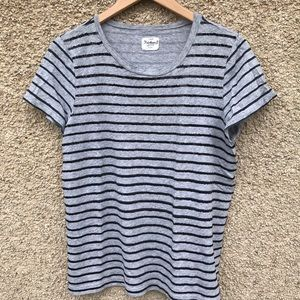 J. Crew Heirloom Sequins T-shirt Stripes Sparkle